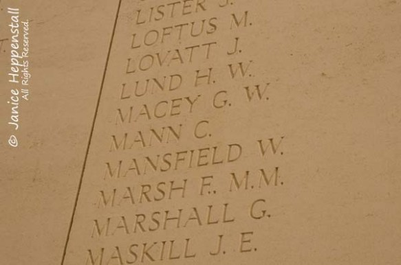 Cyril Mann Inscription on Menin Gate