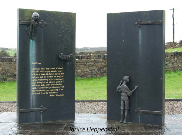 Memorial to the Great Hunger in Ennystimon, Ireland