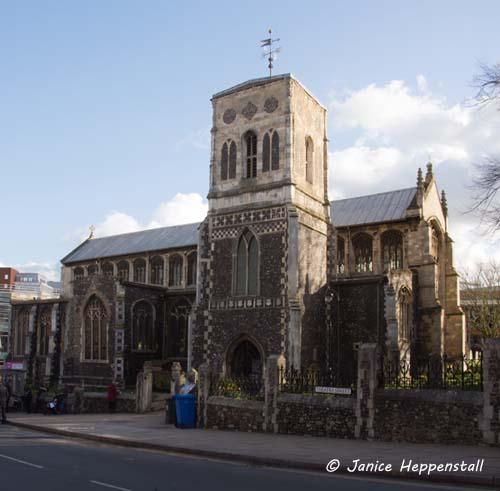 Highly decorative medieval church