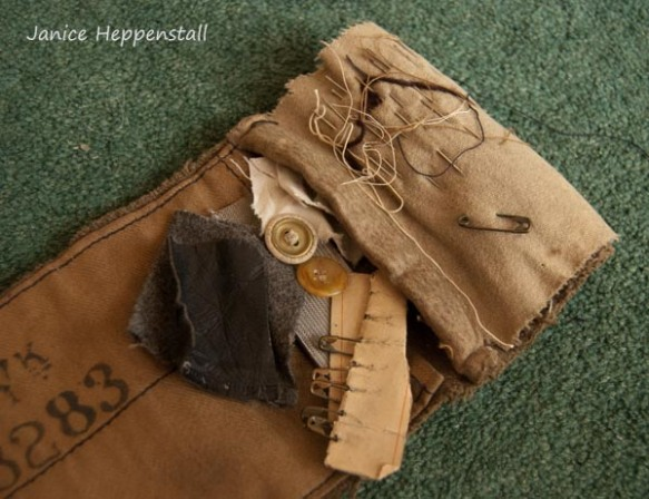 British Army khaki soldier's 'housewife', unrolled