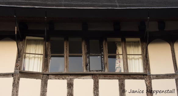 Long window in Norwich typical of traditional weavers' houses